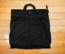 Helmut Lang Archive Black Canvas Helmet Bag