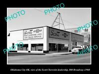 OLD LARGE HISTORIC PHOTO OKLAHOMA CITY OK USA THE CHEVROLET DEALERSHIP c1960