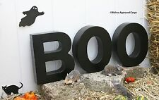 """CRATE & BARREL """"BOO"""" LETTERS -NIB- GIVE YOUR HALLOWEEN ARRIVALS THE GHOSTLY WORD"""
