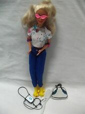 Nice Mattel Full Size SPORTS Barbie w/ Rollerskates & Lots of Accessories