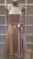 Ted Baker Beige Cotton Petticoat Dress, Size 1, UK 8