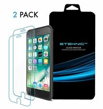 x2 Genuine Tempered Glass Screen Protector For Apple iPhone 7 8 Plus eTEKNIC