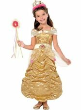 Disney Princess Belle Costume Girls Small 4-6 Gown Dress Up Beauty and the Beast