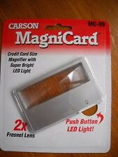 Carson MagniCard LED Lighted Credit Card Size Magnifier