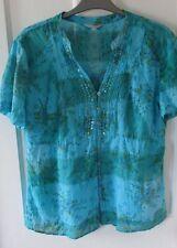 """Per una ladies pretty blouse """"size 12 .""""  Made in India."""