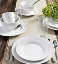 Set Dinnerware 16 Pcs Dishes Plate Mug Vintage Classic Modern White Service New