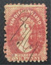 nystamps British Australian States Tasmania Stamp # 23 Used $65  O22x1822