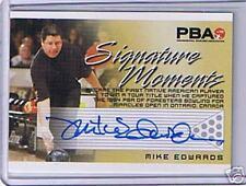 PBA Bowling Signature Moments; Mike Edwards Autograph