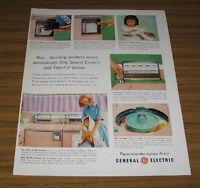 1959 Vintage Ad GE General Electric Filter-Flo Washers for 1960