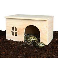 Trixie Flat Wooden Tortoise Rabbit Guinea Pig Hamster Pet Hideaway House