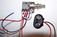 Alpha 250k OHM Audio Taper Pot with Push / Pull Switch  9v snap Potentiometer  M