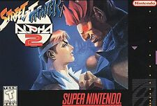 ***STREET FIGHTER ALPHA 2 SNES SUPER NINTENDO GAME COSMETIC WEAR~~~