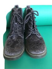 Girls Purple Velvet Effect Boots Size 37/UK 4