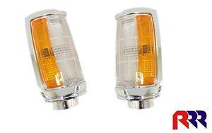 FOR MITSUBISHI TRITON ME/MF/MG/MH/MJ 86-96 CORNER LIGHT LAMP CHROME RIM-  (PAIR)