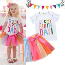 Baby Girls Kids Birthday Dress Tutu Skirt  Kids Party Outfits Sets ZG8