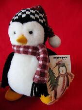 "1999 Mervyns HUGSY Mummford 6"" Plush Penguin~Debbie Mumm Stuffed~TAGS"