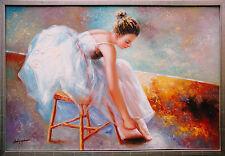 Ballerina, sich ankleidend, Öl-Malerei Andrej Iwanow St.Petersburger Malschule