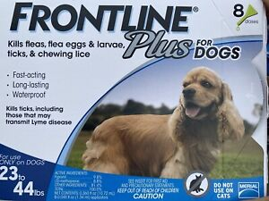 Frontline Plus Flea and Tick Control for Dogs 23-44 Lbs - 8 Doses