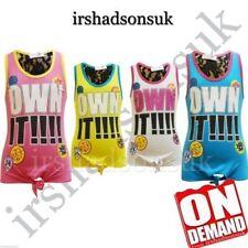 Camiseta de niña de 2 a 16 años de color principal multicolor sin mangas