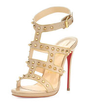 New Christian Louboutin Sexystrapi 120mm Spike Chain Sandal Pump $1295 39.5
