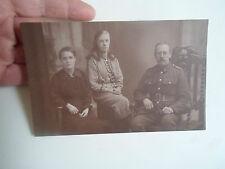 Rare Vintage RP Postcard Man in Uniform+2 Women By J W Berry Hudson St Rochdale