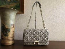 3c167a06f908 Michael Kors Sloan Large Quilted Floral Leather Chain Shoulder Bag $328  Truffle