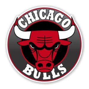Chicago Bulls Round  Decal / Sticker Die cut