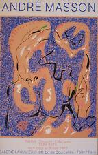 André MASSON (1896-1987) Sérigraphie de 1983 Galerie Lahumière / Silkscreen 1983
