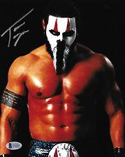 Tama Tonga Signed 8x10 Photo BAS COA New Japan Pro Wrestling The Bullet Club Art