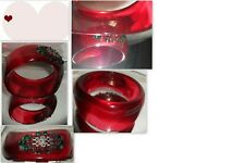 Art Deco Lucite Bangle Italian one of a kind