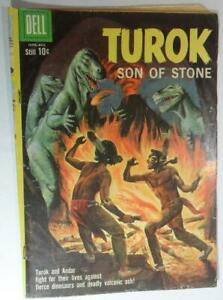 TUROK SON OF STONE #20 AUG 1960 DELL COMICS DINOSAUR PAINTED COVER VG -4 3.5