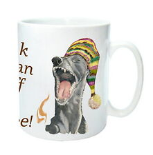 Funny Greyhound Art Gift Mug, Wake up & sniff Coffee, Gift, % to Hound Charity