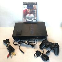 Sony Playstation 2 PS2 Fat Console SCPH-39001 Memory Card Controller & Golf Game