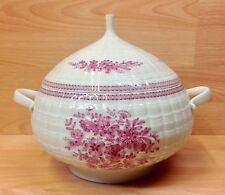 """Hutschenreuther """"Pink Bouquet"""" Pattern Large Lidded Soup Tureen."""