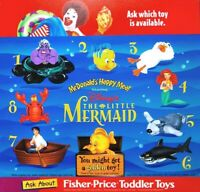 MCDONALD'S DISNEY'S THE LITTLE MERMAID COMPLETE SET OF 8 HAPPY MEAL TOYS