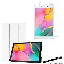 Coque Smart Blanc pour Samsung Galaxy Tab A 8.0 2019 T290 + Vitre de protection