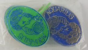 12 PACK HOROSCOPE AQUARIUS CUPCAKE TOPPER 4 COLOR FISH GREEN PINK BLUE WHITE