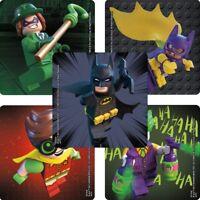 10 Lego Batman Movie Shaped Stickers Kid Birthday Party Goody Bag Filler Favor
