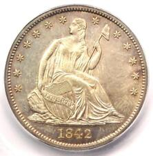 1842 Seated Liberty Half Dollar 50C Coin Medium Date - ICG MS64 - $3,000 Value!