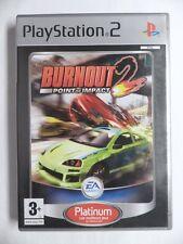 COMPLET jeu BURNOUT 2 POINT OF IMPACT platinum sur playstation 2 PS2 en francais