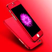 New Hybrid 360° Hard Thin Full Case + Tempered Glass  Cover For Mobile Phone