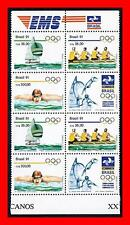 BRAZIL 1991 BARCELONA OLYMPICS double block MNH ROWING, SWIMMING, YACHTS