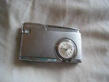 VINTAGE Working TIMEMASTER Swiss Made Clock TIMEPIECE Pocket Lighter