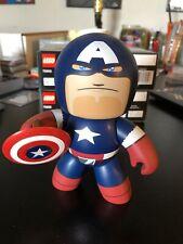 Captain America Mighty Muggs Figure Marvel RETIRED RARE GREAT SHAPE Avengers