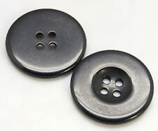 20 x 20mm Black Resin Buttons Large - 4 Holes 2mm Wide - 3mm Thick Craft