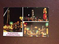 G1a postcard unused blackpool illuminations views