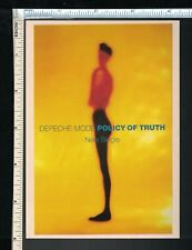 Depeche Mode Post Card - Violator 'Policy of Truth' Vintage 90s postcard Uk Band