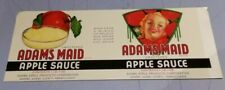 Adams Maid Brand Adams Apple Products Corporation Aspers Pennsylvania Label
