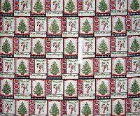 "34"" Fabric Panel - Traditional Holiday Magic Christmas Blocks - Benartex Cotton"
