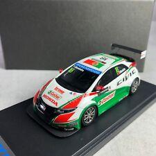 1/43 Mark Honda Civic FK2 WTCC Castrol Guia of Macau 2014 T. Monteiro